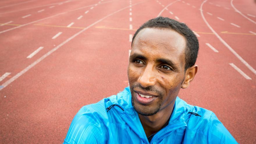 Yonas Kinde, 36 años. Huyó de Etiopía a Luxemburgo . Se prepara para participar como atleta en la maratón de los JJOO de Río 2016 | FOTO: Acnur