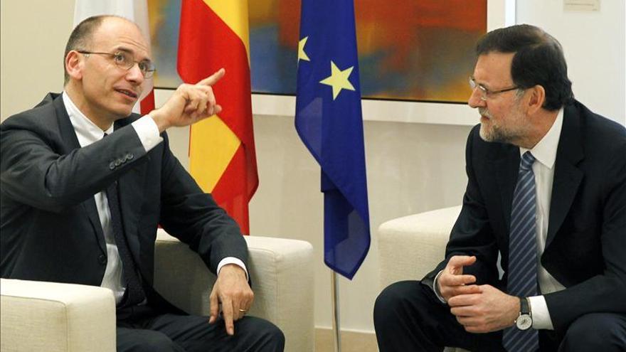 Rajoy recibe a Letta en Moncloa para renovar la alianza bilateral ante la UE