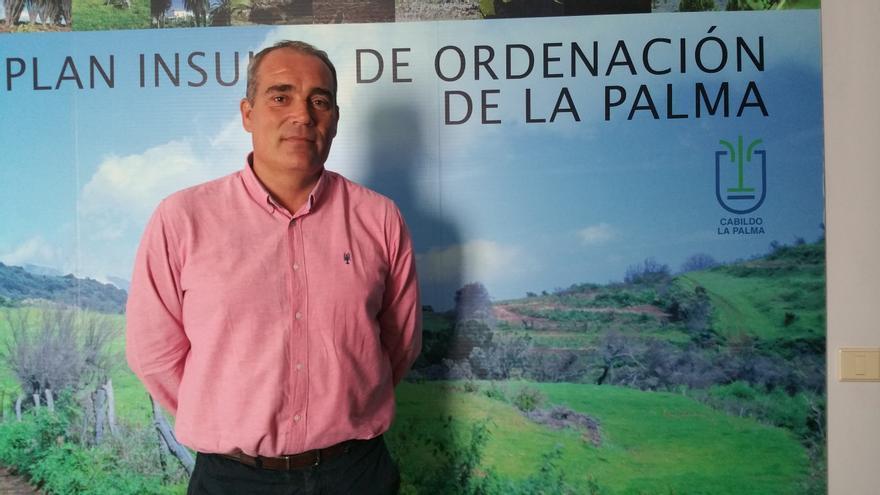 Gonzalo Pascual es consejero de Planificación del Cabildo de La Palma. Foto: LUZ RODRÍGUEZ.