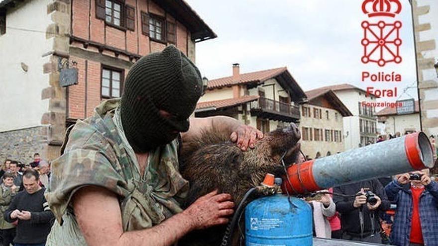 Policía Foral investiga la exhibición pública de animales muertos en los carnavales de Ituren y Zubieta