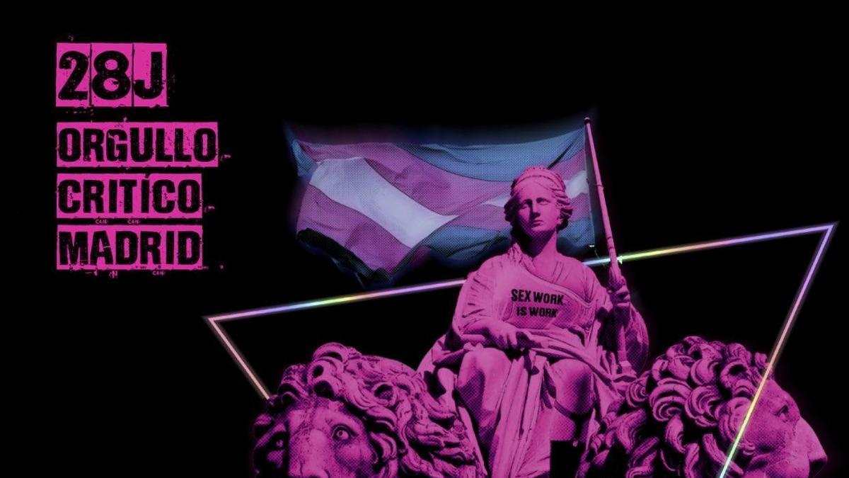 Cartel del Orgullo Crítico 2021 en Madrid