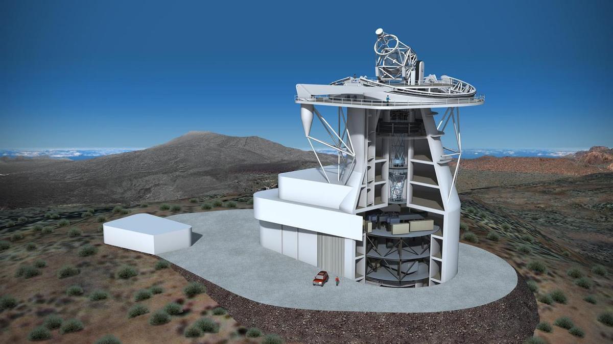 Telescopio Solar Europeo (EST). Crédito: Gabriel Pérez Díaz, SMM (IAC)