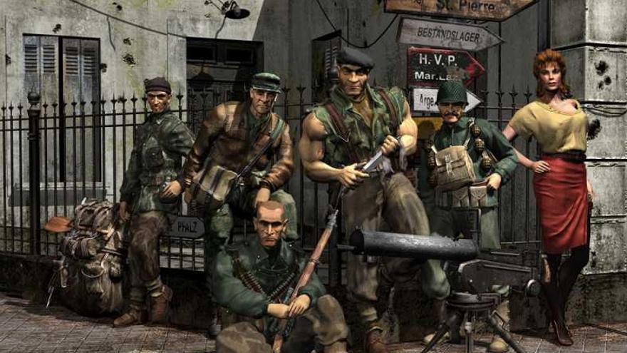 La plantilla de Commandos