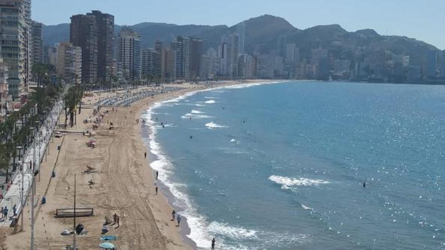 Las playas de benidorm este lunes