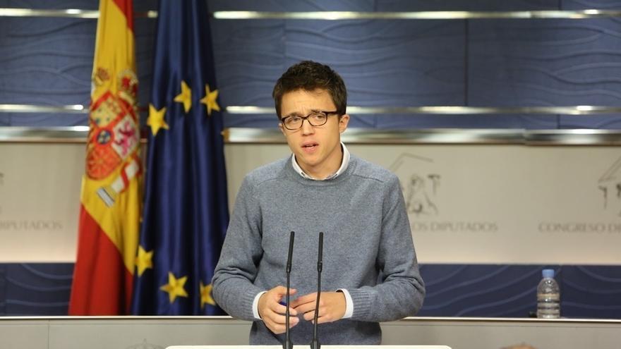 """Errejón cree que el TC """"sobreactúa"""" y """"echa leña al fuego"""" en el caso de Cataluña"""