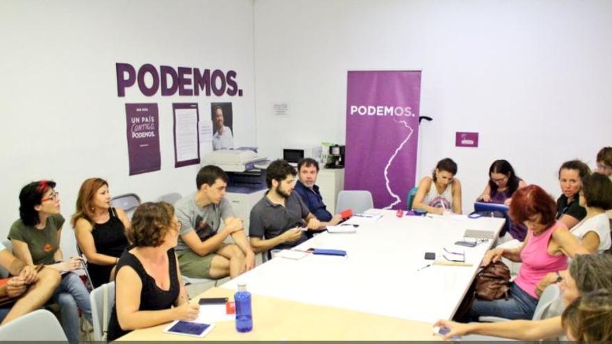 Reunión del Consejo Ciudadano de Podemos para elegir a los siete portavoces