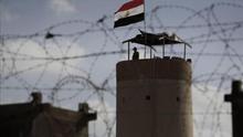 Torre militar egipcia en Rafah, en la frontera entre Egipto y Gaza (EFE)