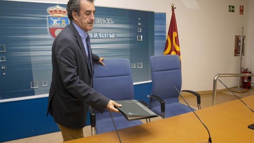 El consejero, Francisco Martín, en la presentación de sus presupuestos.