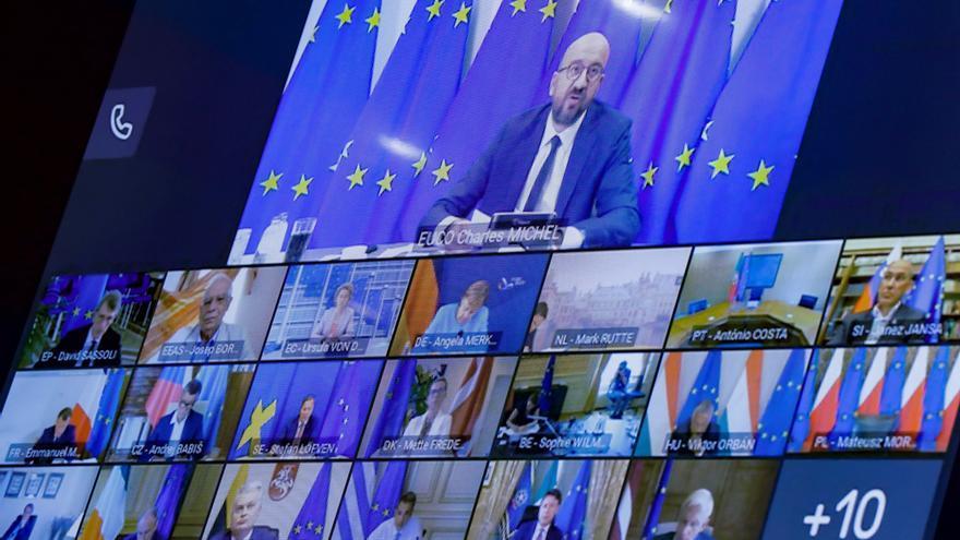 Cumbre telemática de los jefes de Estado y de Gobierno de la Unión Europea (UE) sobre la crisis en Bielorrusia.