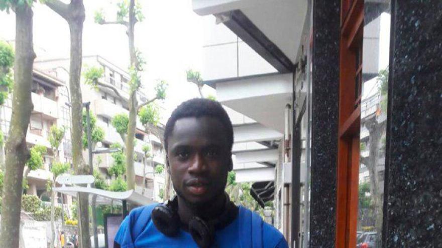 Adama, joven futbolitsta de Costa de Marfil.