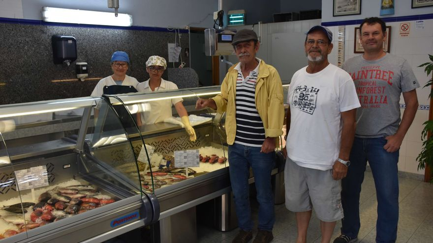 Pescadería de la Cofradía de Las Nieves en el refugio pesquero de Santa Cruz de La Palma.
