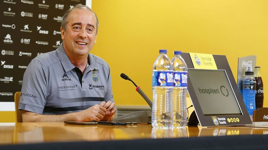 El entrenador del Iberostar Tenerife, Txus Vidorreta.