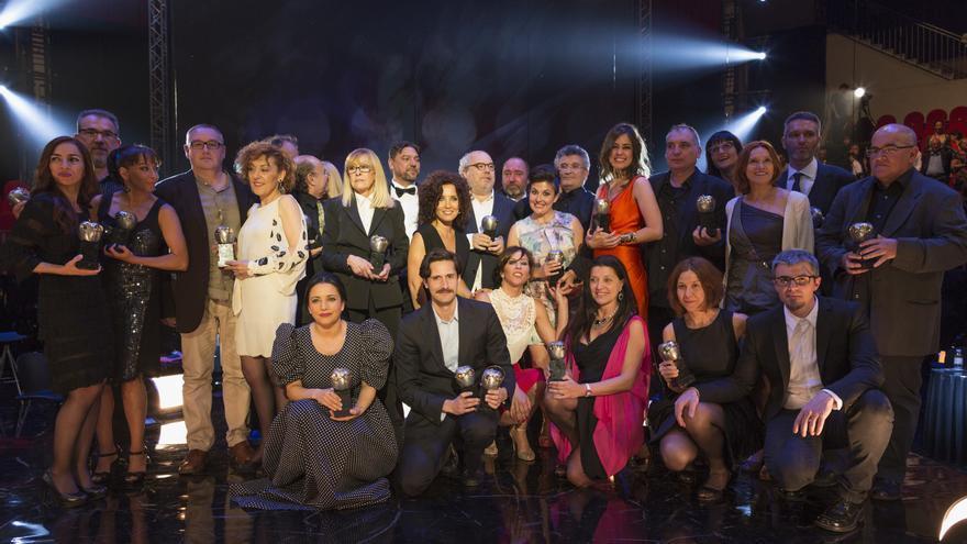 Foto de familia de los ganadores de los Premios Max de este año / SGAE/Enrique Cidoncha