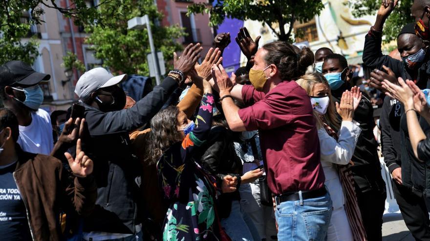 """Iglesias reclama el voto el 4M como """"garantía"""" de un Gobierno de izquierdas sin """"complejos"""""""