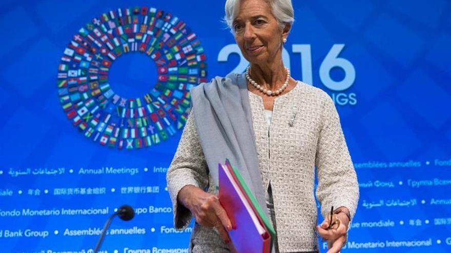 La directora gerente del Fondo Monetario Internacional (FMI), Christine Lagarde. Imagen de archivo.