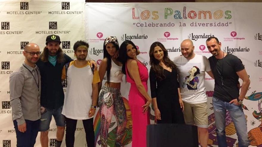 Foto de familia en la rueda de prensa de los Palomos 2017