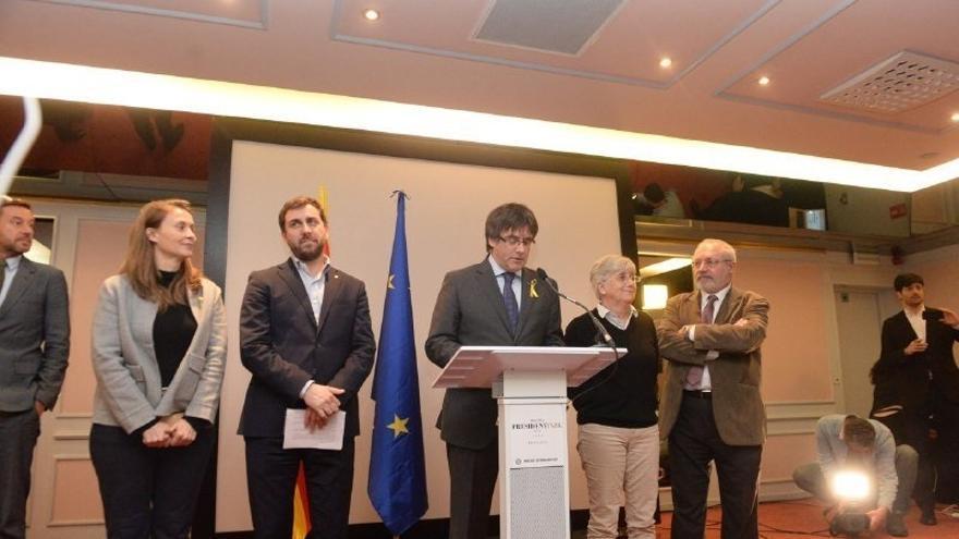 """Puigdemont dice que el TS retiró la euroorden por """"miedo"""" y prueba que la huida a Bélgica fue la """"estrategia adecuada"""""""