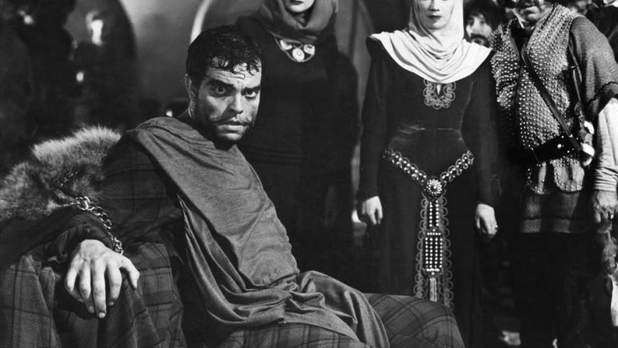 Una escena del Macbeth de Orson Welles