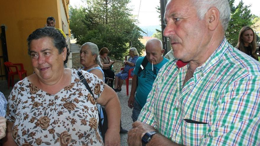 María y José, matrimonio desalojado desde hace varios días de su casa en La Parrilla.