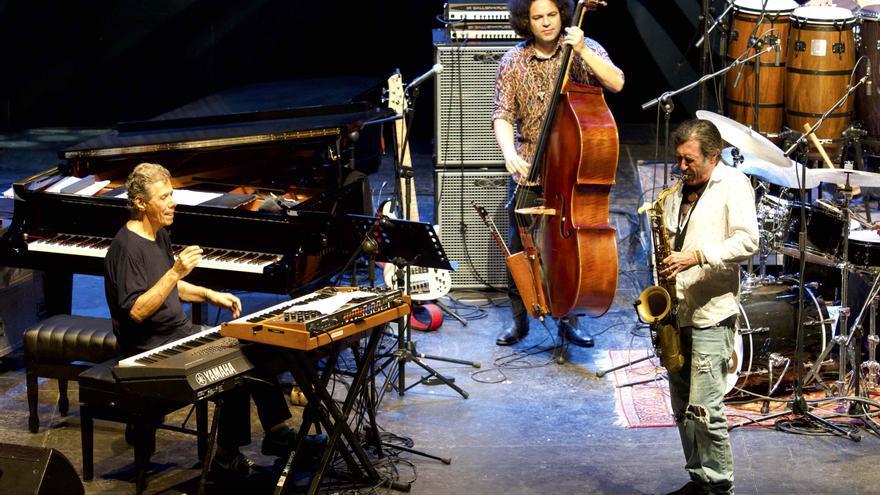 El saxofonista y flautista español Jorge Pardo durante uno de sus solos