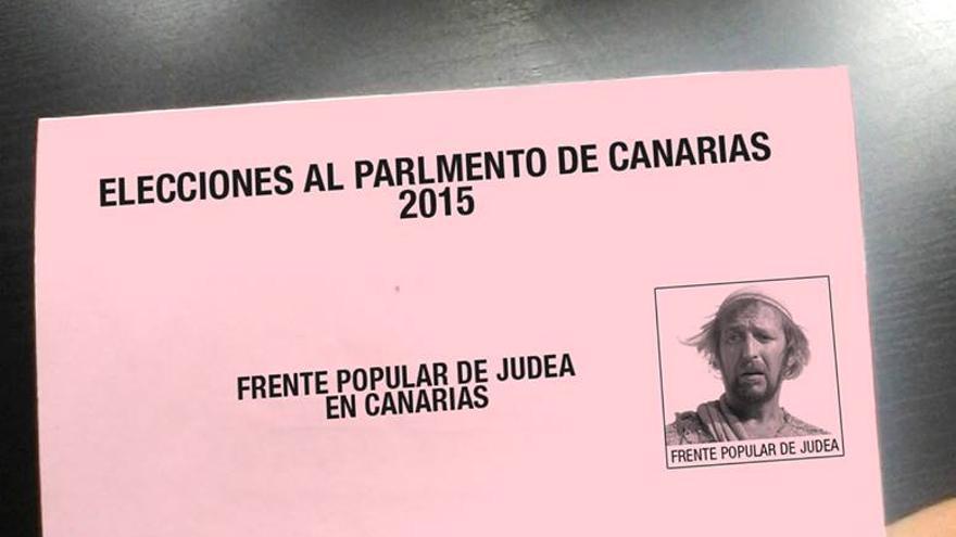Papeleta electoral del Frente Popular de Judea de Canarias (FACEBOOK)
