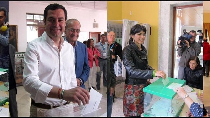 Susana Díaz votará en Sevilla, Moreno en Málaga, Teresa Rodríguez en Cádiz, Marín en Sanlúcar y Maíllo en Aracena