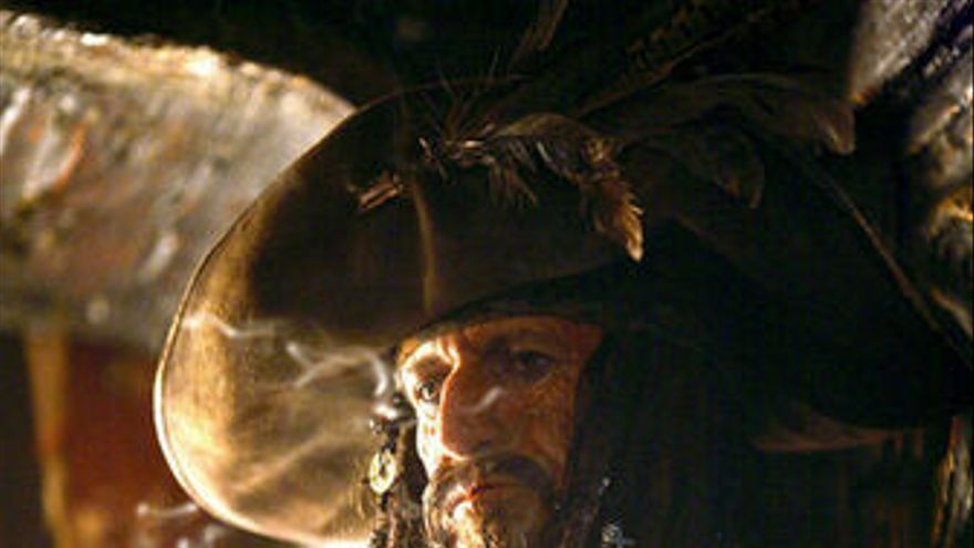 Keith Richards en Piratas del Caribe