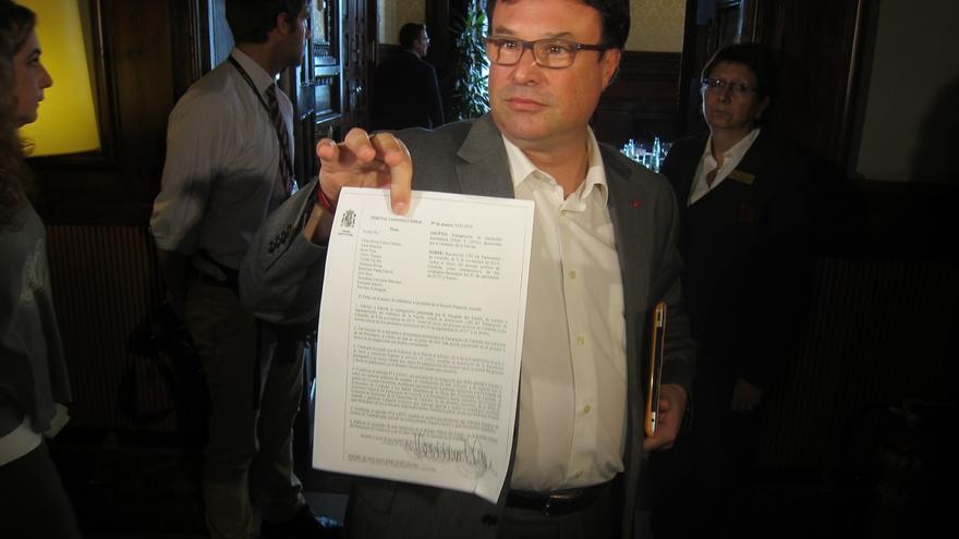 Funcionarios del TSJC notifican la decisión del TC personalmente a la Mesa del Parlament
