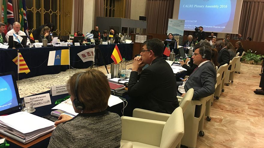 Enric Morera en la Conferencia de Asambleas Legislativas Regionales de Europa celebrada en Italia