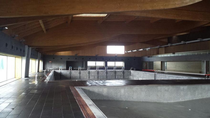 Las obras de construcción de las piscinas finalizaron hace tres años.