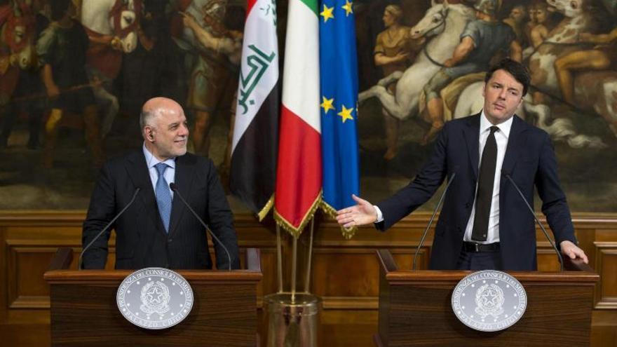"""Al Abadi dice en Roma que quiere acabar con el EI en Irak """"antes de fin de año"""""""