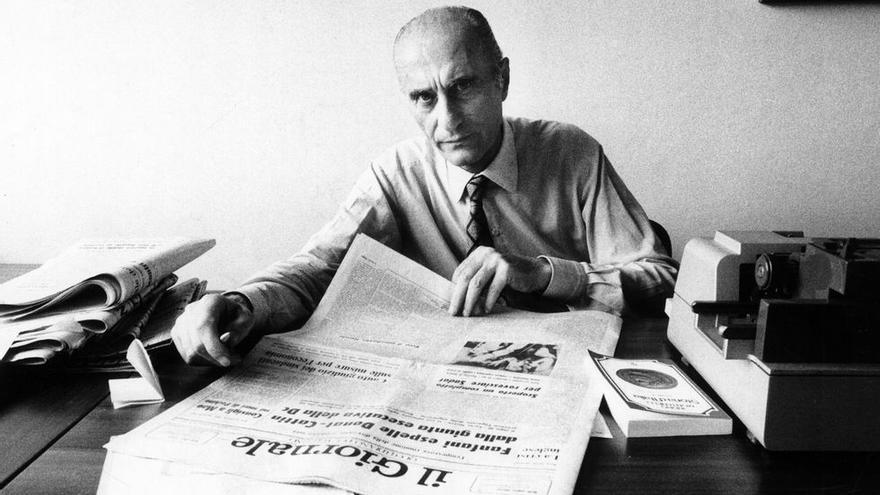 El maestro de periodistas italiano, Indro Montanelli.