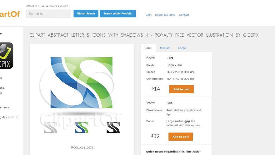 Imagen de la plantilla de internet utilizada en la tercera opción.