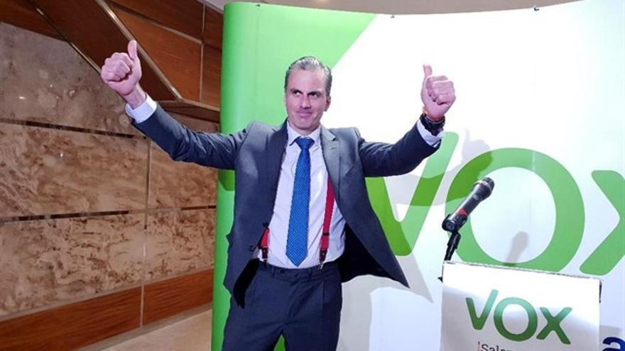 El secretario general de Vox, Javier Ortega Smith, en Salamanca.