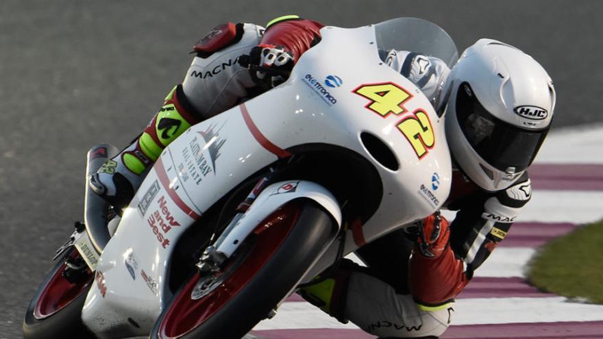 Marcos Ramírez, piloto de Conil que compite en el Mundial en Moto3.