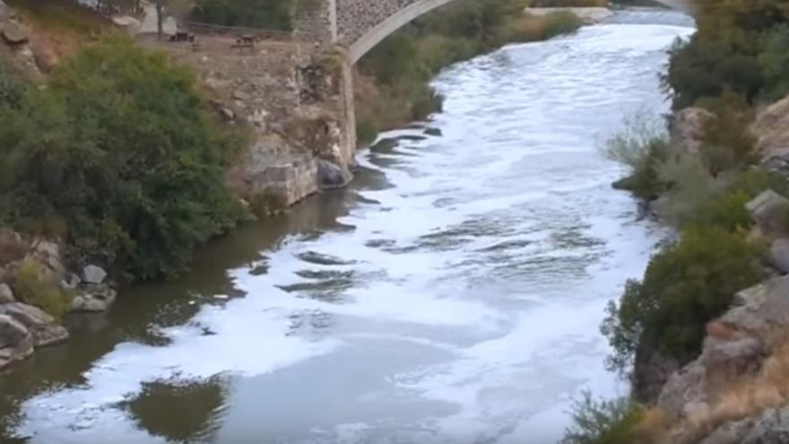 Captura del vídeo del río Tajo a su paso por Toledo