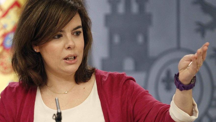 """Soraya Sáenz de Santamaría afirma que las consultas ciudadanas """"tienen que ser siempre sobre competencias de la Comunidad Autónoma""""."""