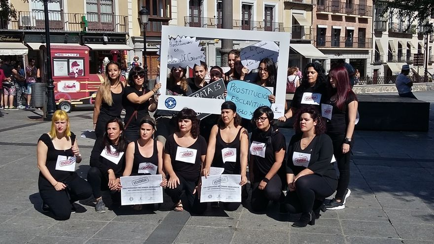 Médicos del Mundo en una movilización contra la trata en Toledo