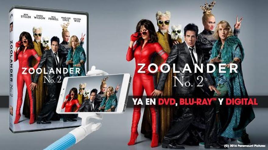 ¡Regalamos DVD's y palos de selfie de 'Zoolander 2'!