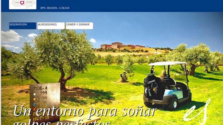 Publicidad del campo de golf de la finca 'La Caminera', Torrenueva (Ciudad Real), sin permisos medioambientales