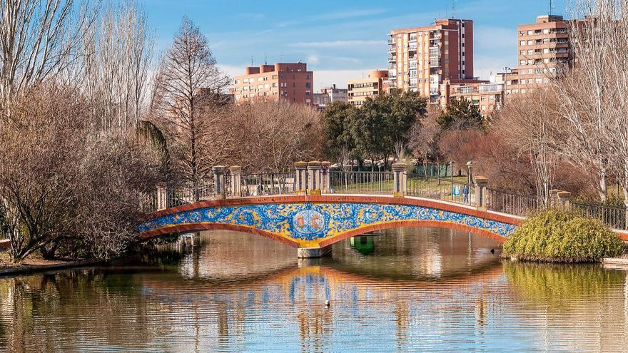 Puente de los Jardines del Prado de Talavera de la Reina