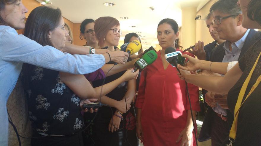 Fabiola Meco, portavoz de Podemos en la comisión de seguimiento del Pacto del Botánico