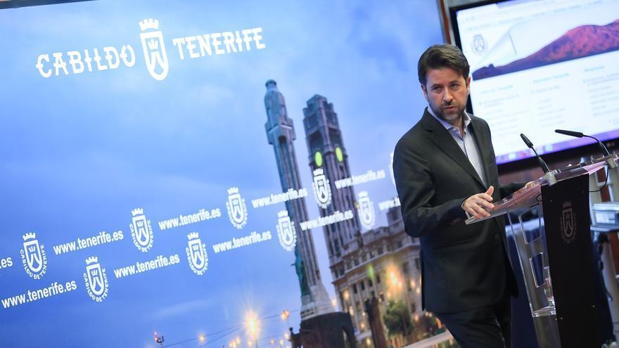 Carlos Alonso durante la presentación del portal de transparencia.