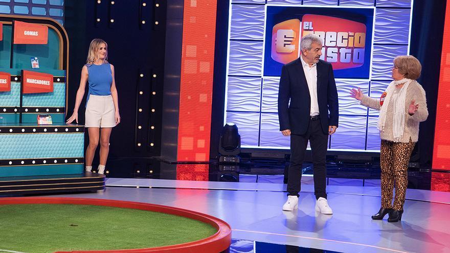 Arianna Aragón y su padrastro Carlos Sobera en 'El precio justo'
