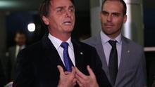 Jair Bolsonaro, ganador de la primera vuelta en las elecciones presidenciales de Brasil.