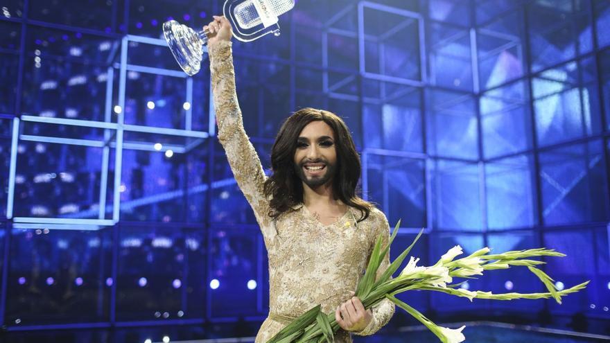 Conchita Wurst, ganadora de Eurovisión 2014. Foto: Thomas Hanses (EBU)