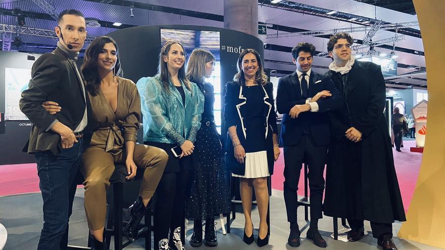 Paloma Suárez en la Semana de la Moda de Madrid.