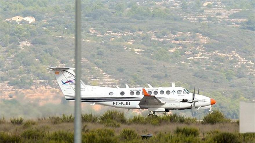 El aeropuerto de Castellón recibe el segundo vuelo de calibración