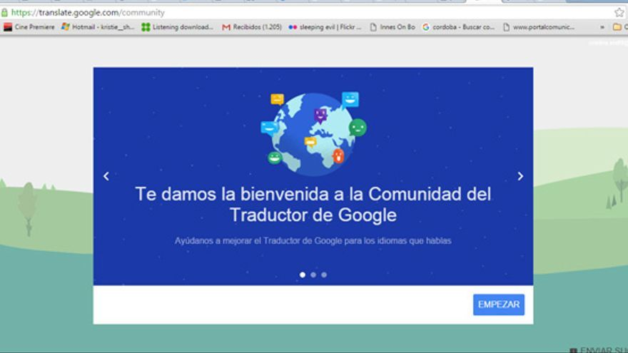 El traductor de Google utiliza modelos estadísticos pero también pide ayuda a los usuarios