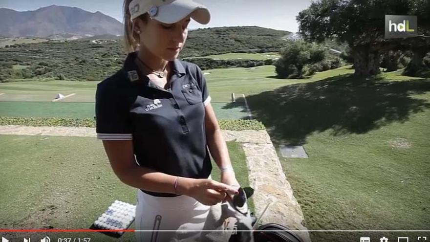 Noemí Jiménez, la joven y prometedora jugadora malagueña de golf